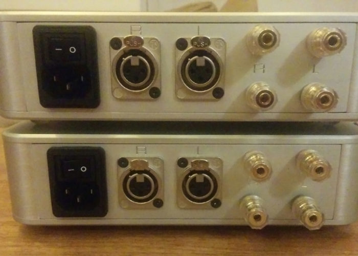Two IOM Pro stereo amps