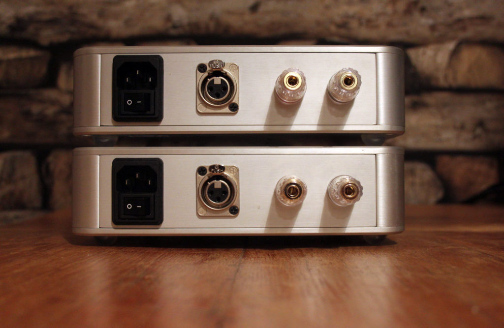 Pair of NCore Mono amplifiers - rear